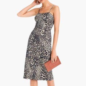 J. Crew Collection Cheetah Print Knee Length Dress